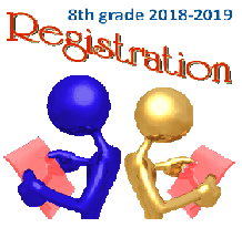 2018-2019 8th grade registration/information